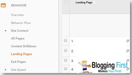 GA Landing Page