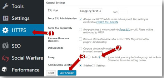 WP HTTPS Plugin Setting