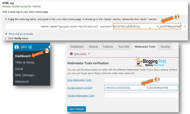 HTML Tag via Yoast SEO Plugin