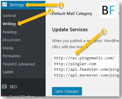 How to add or Update Ping List
