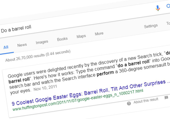 do a barrel roll google secrets