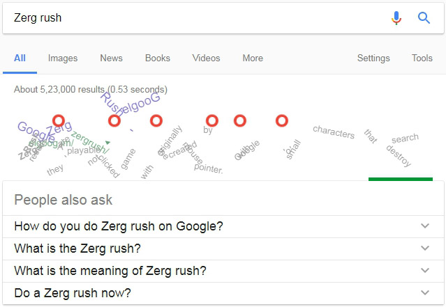 zerg rush google secrets
