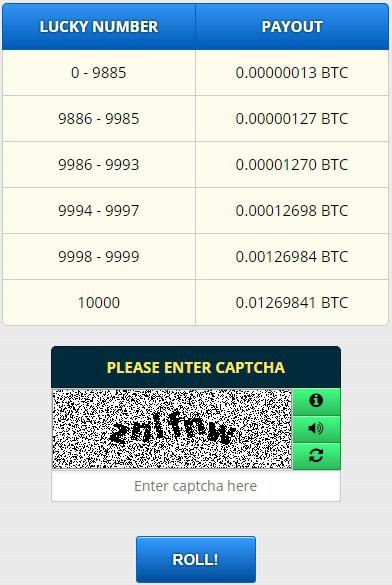 bitcoin captcha play