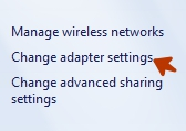 change adapter setting