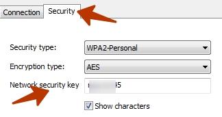 wifi password shown