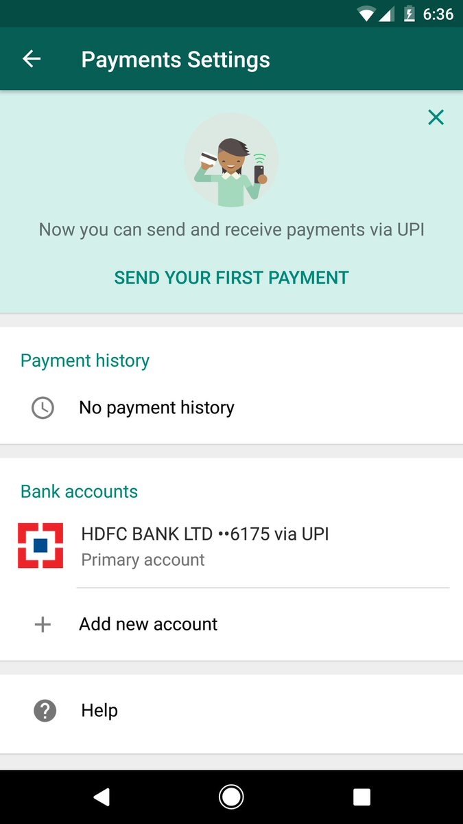whatsapp payment page