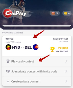 play cash contest at cric play