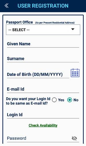 new registration form