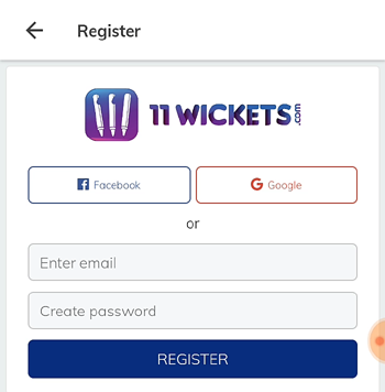 11 wickets registration
