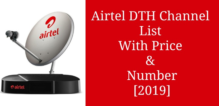 airtel dth channel list price number