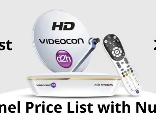 Videocon D2H Channel List With Number & Price [2019][TRAI