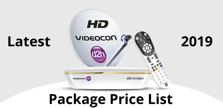 videocon d2h pack price list